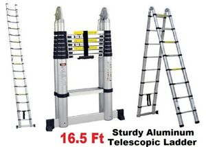 Folding 16 5 Ft Multi purpose Aluminum Telescopic Ladder En131 Extension New