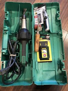 Leister Triac St Roofing Welder With Case Seam Roller probe Combo Knife