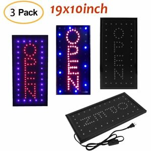 3 Animated Motion Running Led Business Open Sign on off Switch Bright Light B
