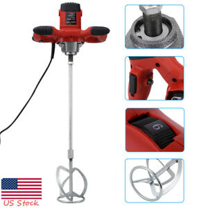 1500w Electric Mortar Mixer 110v Handheld Stirrer Paint Cement Grout Mixing Tool