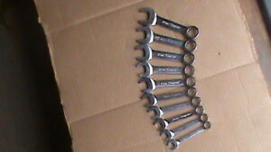 Snap On Metric 10 Pc Midget Combination Wrench Set Flank Drive 12 Point 10 19mm