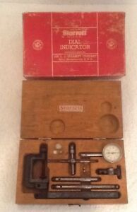 Vintage Starrett Dial Test Indicator No 196a Original Wooden Box