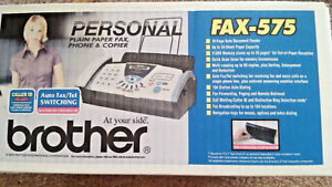 Brand New Brother Fax 575 Plain Paper Copier Fax Fast Shipping