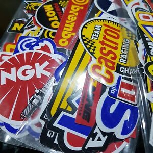 Lot Of Car Racing Stickers Decals Motocross Motorcycles Vintage Decal Sticker