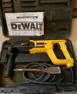Dewalt Rotary Hammer D25023 With Chisel Bit Drill Concrete Tile Stone Removal