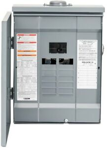 Homeline Outdoor Main Breaker Plug on Neutral Load Center Box 100 Amp 8 space