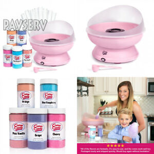 Cotton Candy Express Brand 5 Flavor Party Kit Pink Machine With Five