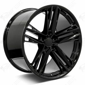 20 Gloss Black Staggered New Wheels Rims 2018 Zl1 Style Fits Chevrolet Camaro