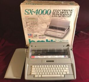 Brother Sx 4000 Electronic Lcd Display Typewriter Dictionary Spellcheck Works