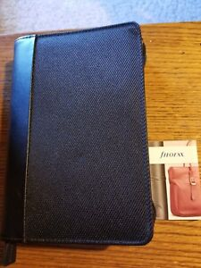 Filofax Personal Size Zippered Planner Organizer In Black Model Is Graphic