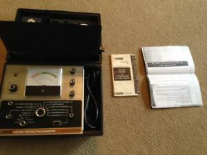 Bk Precision Model 470 Picture Vacuum Tube Tester With Adapters