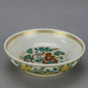 China Antique Porcelain Ming Chenghua Gild Doucai Flower Bowl Gongfu Cup