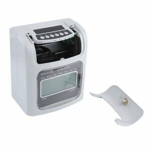 Lcd Attendance Time Clock W Monthly Weekly Cards Employee Recorder Deskt