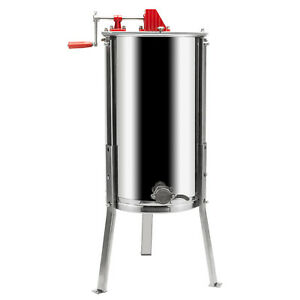 2 Frames Stainless Steel Manual Honey Extractor Beekeeping With Holder