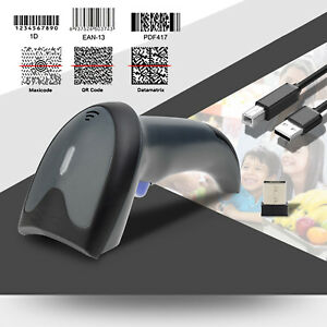 Upgraded Dual 2 4g Wireless usb 1d 2d Barcode Scanner Qr Pdf417 Data Matrix Upc
