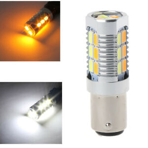 1157 50w 5630 Yellow White Led Dual Color Switchback Turn Signal Light Bulbs