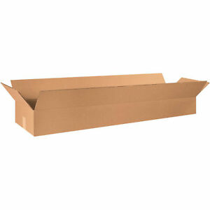 48 X 12 X 6 Long Corrugated Boxes 65 Lbs Capacity 200 ect 32 Kraft Lot Of