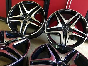 Mercedes 18 Inch Black New Edition Rims Set4 Fits S430 S500 S55 S600 220 Amg