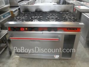 Vulcan 8 Burner Range With Convection Oven And Storage