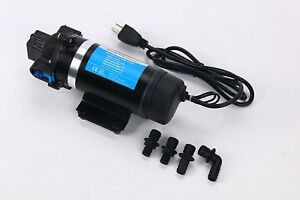 110v High Pressure Self priming Diaphragm Water Pump 160psi 11bar 7lpm F Rv boat