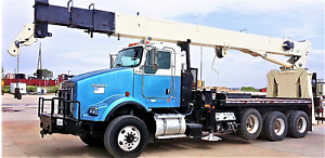 2007 National 9103 Rear Mount On Kenworth T800 Cranes Boom Truck Low Hours