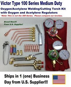 Victor Type 100fc Cutting welding Torch Kit With Tips Regulators More