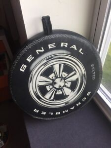 General Scrambler Tire With Cragar Ss Rim Vintage Seat Pad For The Races 1960 s