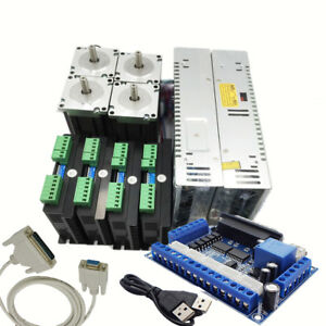Nema23 57mm 4 Axis1 8nm Stepper Motor Drive Controller Power Supply Breakout Kit