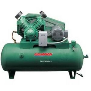 New Two stage Electric Air Compressor Hrv15f 12 15 Hp 120 Gal 208v 3ph