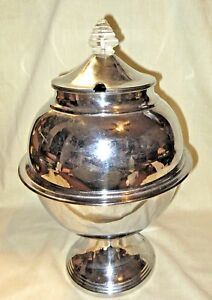 Vintage 1936 Lehman Brothers Chrome Art Deco Punch Bowl Soup Tureen