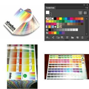 Shades Color Swatches Coated Uncoated Cmyk Process System Guide Guides Pantone