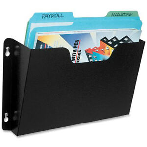 Buddy Products Steel Wall File Pockets Letter Size Black Lot Of 1