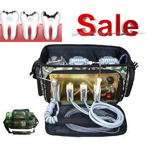 Portable Dental Unit With Air Compressor Suction System 3 Way Syringe Usa Stock