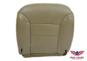 1995 1996 Chevy Tahoe Vinyl Seat Cover Tan driver Bottom Replacement