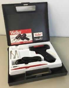 Weller Soldering Gun Set Kit 8200 Complete Case Instructions Tips Tools Solder