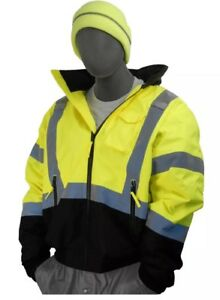 Majestic Glove 75 1313 Pu Coated Polyester High Visibility Bomber Jacket hh