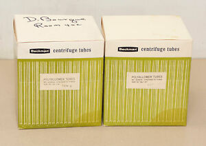 Beckman 326824 1 5 X 4 Centrifuge Tubes 2 Boxes Of 50 location R6