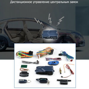 Anti Theft Remote Engine Start Two Way Car Alarm System Lcd Fob Key Russian Ver