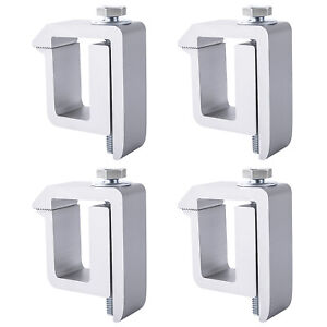 Set Of 4 Aluminum Truck Cap Camper Shell Mounting Clamp Silver