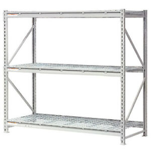Extra High Capacity Bulk Rack With Wire Decking Starter Unit 72 w X 24 d X