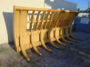 Fleco Root Rake Dozer Style Blade severe Duty Wheel Loader Attachment