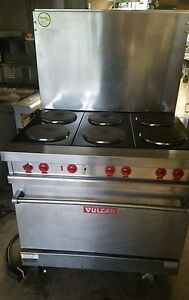 Vulcan E 36 Electric 6 burner Range Stove With French Hotplates