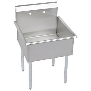 Elkay 1 Compartment Professional Grade Commercial Kitchen Stainless Steel Sink