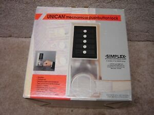 New Nos Kaba Simplex Ll1021 Pushbutton Lock Key Over Ride Core Installed W keys