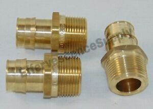 lot Of 3 1 Propex X 1 Npt Male Adapter Uponor wirsbo Lead Free Brass