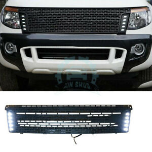 For Ford Ranger T6 2012 2014 Plastic Vent Hole Front Grill Grille Led