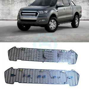For Ford Ranger T6 2015 2016 Front Grill Grille With Yellow Led Plastic