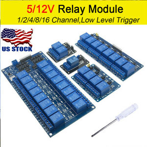 1 2 4 8 16 Channel Relay Board Module Optocoupler Led For Arduino Pic Arm Avr Us