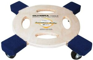 Olympia Furniture Dolly 800 Lb Capacity Rolling Moving Round Dolly Wheel New