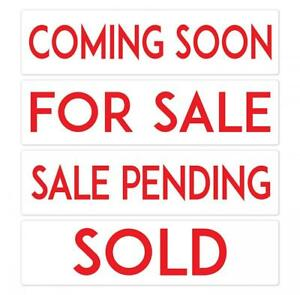 Metal Real Estate Sign Riders Set Of 4 Coming Soon For Sale Sale
